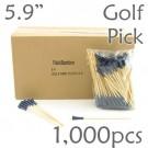 Golf Tee Picks 5.9 Long - Blue - Box of 1000 pc