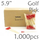 Golf Tee Picks 5.9 Long - Red - Box of 1000 pc