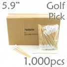Golf Tee Picks 5.9 Long - White - Box of 1000 pc