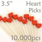 Heart Picks - 3.5 - Case of 10,000 pc