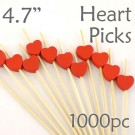 Heart Picks - 4.7 - Box of 1000 pc