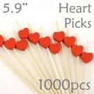Heart Picks - 5.9 - Box of 1000 pc