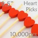Heart Picks - 9.5 - Case of 10,000 pc