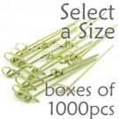 Bamboo Knot Picks - Green - Box of 1000 pcs (Select a Size)
