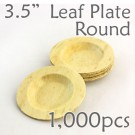 "Bamboo Leaf Round Plate 3.5"" -1000 pc."