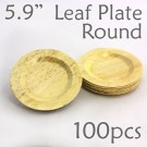 "Bamboo Leaf Round Plate 5.9"" -100 pc."