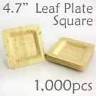 "Bamboo Leaf Square Plate 4.7"" -1000 pc."
