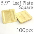 "Bamboo Leaf Square Plate 5.9"" -100 pc."