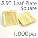 "Bamboo Leaf Square Plate 5.9"" -1000 pc."