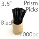 "Triangle Prism Skewer - Black - 3.5"" Long 1000 pcs"