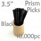"""Triangle Prism Skewer - Black - 3.5"""" Long Case of  10,000 pcs"""