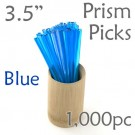 "Triangle Prism Skewer - Blue - 3.5"" Long 1000 pcs"
