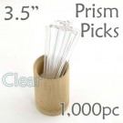 "Triangle Prism Skewer - Clear - 3.5"" Long 1000 pcs"