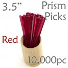"Triangle Prism Skewer - Red - 3.5"" Long Case of  10,000 pcs"