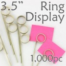 "Double Loop Ring Display Pick  3.5""- 1000pcs"