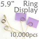 "Double Loop Ring Display Pick 5.9"" - 10,000pcs"