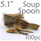 Thermo-Pressed Leaf Chinese Soup Spoon -100 pc.