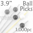 Ball Picks  3.9 Long - White - Box of 1000 pc