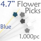 Flower Picks  4.7 Long - Blue - Box of 1000 pc