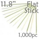 Bamboo Flat Stick Skewers 11.8 - Green - box of 1000 Pieces