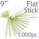 Bamboo Flat Stick Skewers 9.05 - Green - box of 1000 Pieces