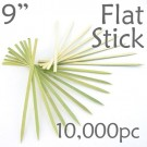 Bamboo Flat Stick Skewers 9.05 - Green - Case of 10,000 Pieces