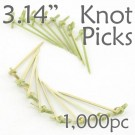 Bamboo Knot Picks 3.14 - Green - box of 1000 Pieces