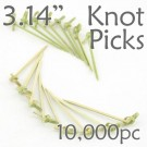 Bamboo Knot Picks 3.14 - Green - Case of 10,000 Pieces