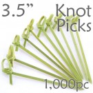 Bamboo Knot Picks 3.5 - Green - box of 1000 Pieces