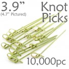 Bamboo Knot Picks 3.9 - Green - Case of 10,000 Pieces