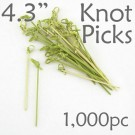 Bamboo Knot Picks 4.3 - Green - box of 1000 Pieces