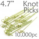 Bamboo Knot Picks 4.7 - Green - Case of 10,000 Pieces