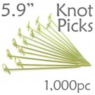 Bamboo Knot Picks 5.9 - Green - box of 1000 Pieces