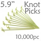 Bamboo Knot Picks 5.9 - Green - Case of 10,000 Pieces