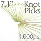 Bamboo Knot Picks 7.1 - Green - box of 1000 Pieces