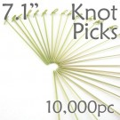 Bamboo Knot Picks 7.1 - Green - Case of 10,000 Pieces