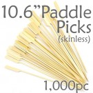 Bamboo Paddle Picks 10.6 - Skinless - box of 1000 Pieces