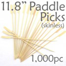 Bamboo Paddle Picks 11.8 - Skinless - box of 1000 Pieces