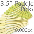 Bamboo Paddle Picks 3.5 - Green - case of 10,000 Pieces