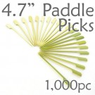 Bamboo Paddle Picks 4.7 - Green - box of 1000 Pieces