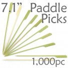 Bamboo Paddle Picks 7.1 - Green - box of 1000 Pieces
