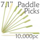 Bamboo Paddle Picks 7.1 - Green - case of 10,000 Pieces