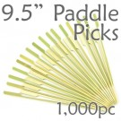 Bamboo Paddle Picks 9.5 - Green - box of 1000 Pieces