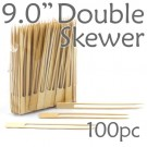 Double Prong 9.0 inch Twin Skewer - 100pcs