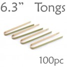 Bamboo Tongs 6.3  -  100 Pieces