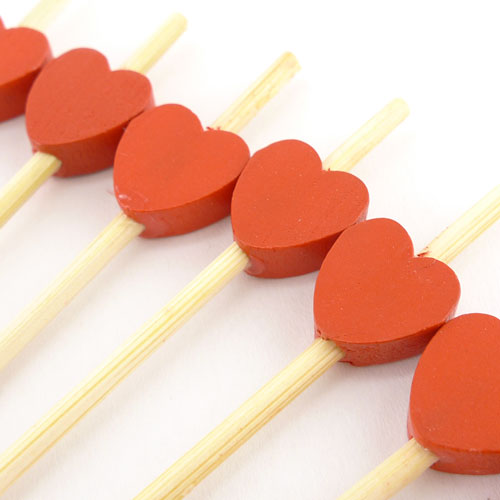 heart decorative pick